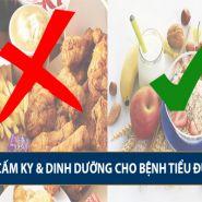 Những điều cấm kỵ và phương pháp dinh dưỡng dành cho bệnh nhân tiểu đường