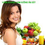 Viêm xoang hàm kiêng ăn gì? Lời khuyên từ các chuyên gia