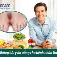 Lưu ý ăn uống cho bệnh nhân Gout