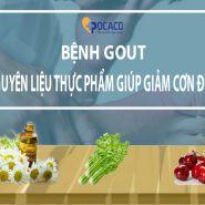 Nguyên liệu thực phẩm tốt cho sức khỏe có thể làm giảm đau bệnh gout